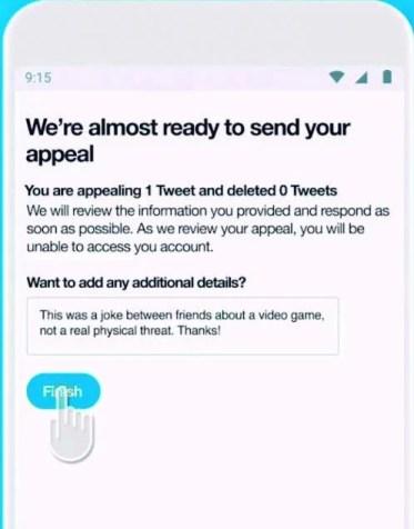 denuncia tweet pelo app