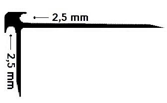 Cantonera PVC 2,5mm