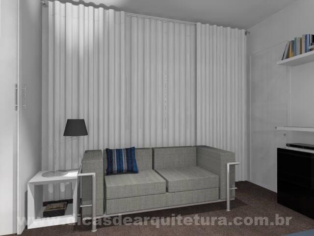 SALA DE TV NO CORREDOR  Dicas de Arquitetura