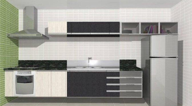 Cor dos arm rios da cozinha dicas de arquitetura for Armarios elegantes