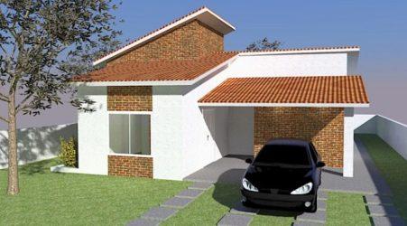 CASA SIMPLES E ECONÔMICA DE 64m² Dicas de Arquitetura
