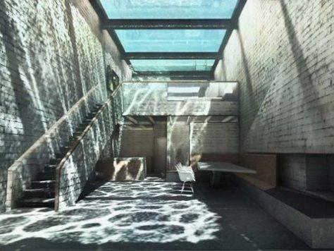 piscina de vidro - casa brutale
