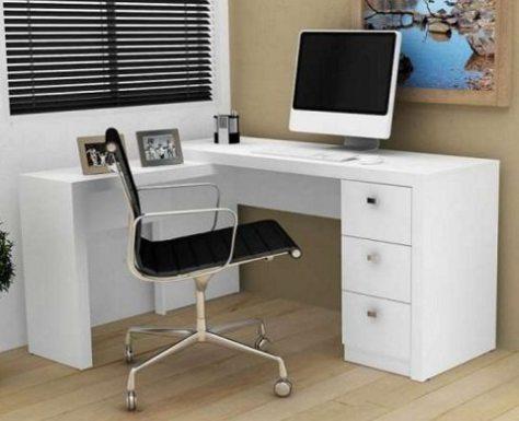 escrivaninha em L para home office