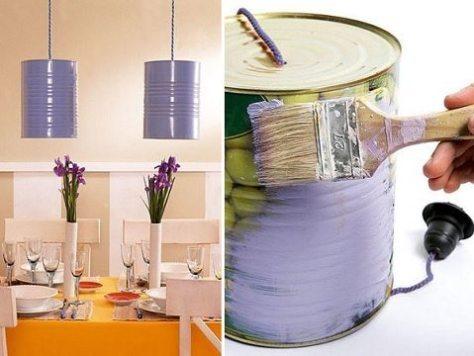 decoração com lata - shelterness