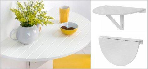mesa redonda dobravel legno