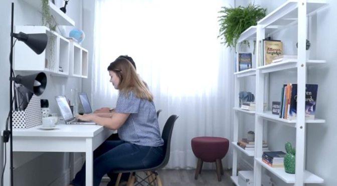 HOME OFFICE PARA 2 PESSOAS EM APENAS 5m²