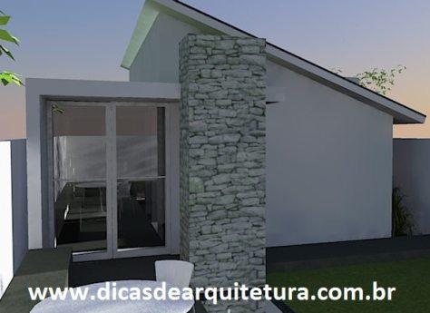 casa térrea de 50m² no terreno plano