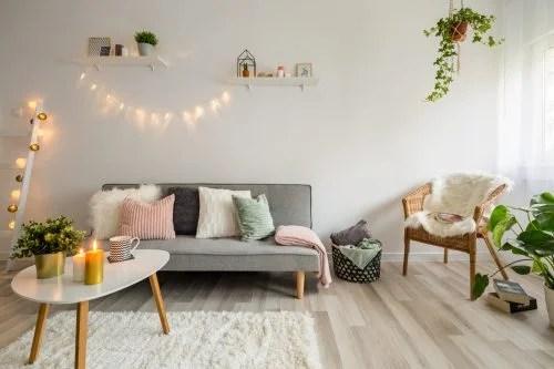Decorao da sala de estar com tons pastis  Dicas decorativas