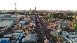 Oktoberfest vista do alto da roda gigante