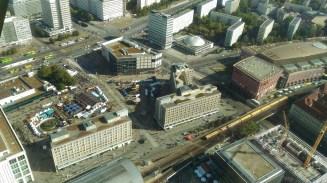 Foto panorâmica da Alexanderplatz tirada na Torre da TV