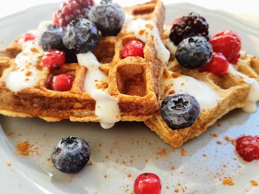 Waffles de aveia