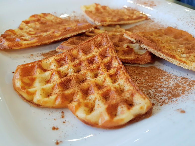 Waffles banana
