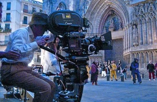 Woody Allen rodando na Sagrada Família