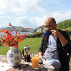 Pequena casa de chá no Slea Head Drive – vista maravilhosa!