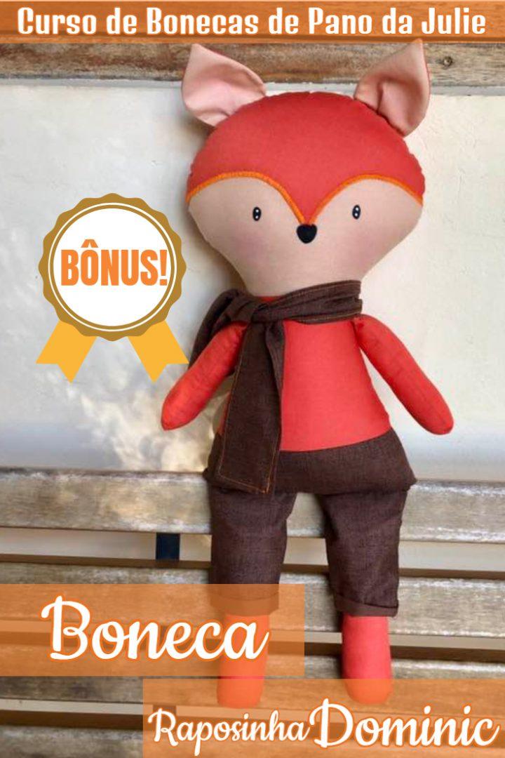 Boneca de Pano - Raposinha Dominic