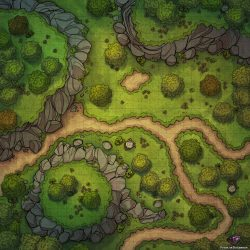 forest map battle path dnd maps battlemaps roll20 dungeons dragons fantasy 30x30 rpg comments tabletop patreon version beholder oc