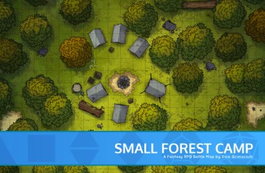 Small Forest Camp D&D Map for Roll20 And Tabletop Dice Grimorium