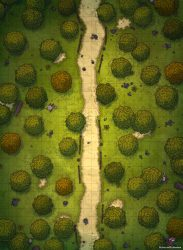forest map road dnd battle straight maps rpg path fantasia roll20 mapa fantasy battlemap grid 22x30 ocart dungeons dragons magic