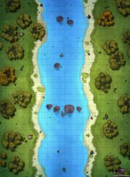 river map battle forest dnd maps roll20 tabletop 22x30 version