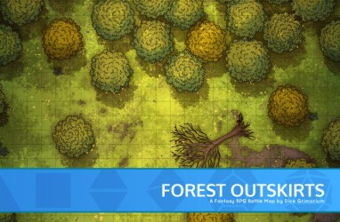 Forest Outskirts D&D Map for Roll20 And Tabletop Dice Grimorium