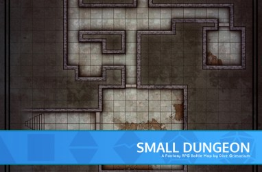 Small Dungeon D&D Map for Roll20 And Tabletop Dice Grimorium