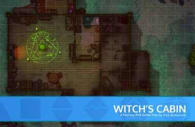 Witch s Cabin D&D Map for Roll20 And Tabletop Dice Grimorium