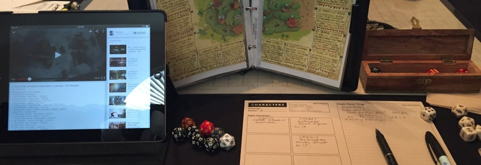 The DM's View: 1 Page Dungeon Notes