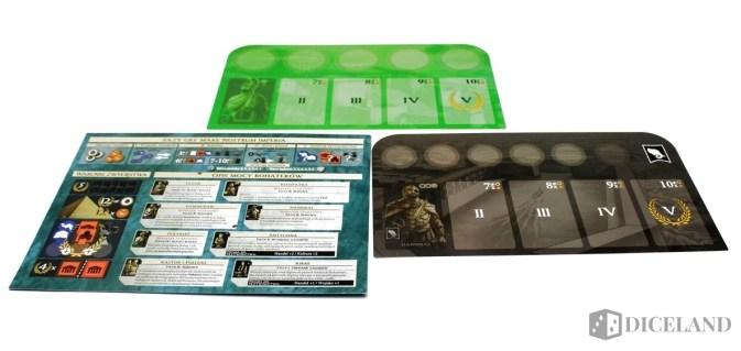 Plansze gracza oraz karta pomocy