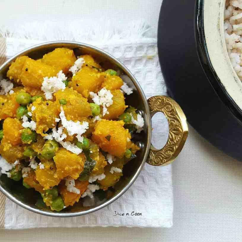 pumpkin-peas-dry-curry
