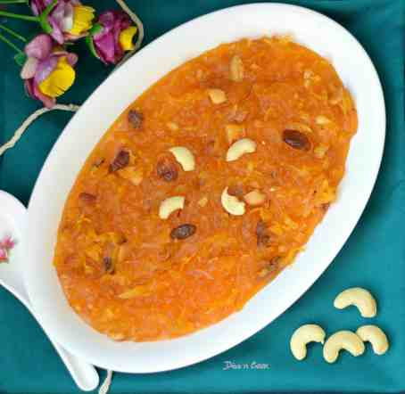 Grated-potato-halwa-plate