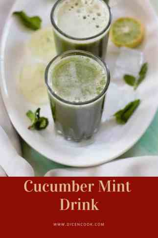 Cucumber-mint- drink