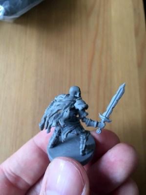 Skelettkrieger mit Schwert und Schild.