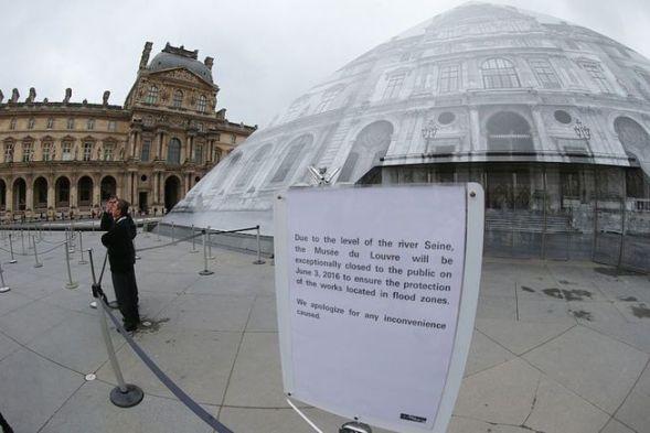 Image result for Louvre flood