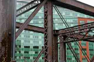 Détail d'une construction métallique à Boston - USA