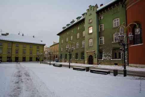 Place Maly Rynek à Cracovie - Pologne