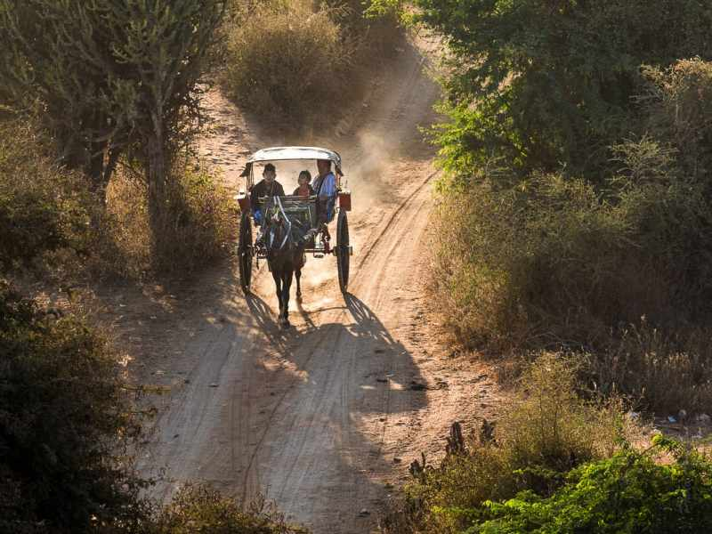 La visite en calèche du site de Bagan