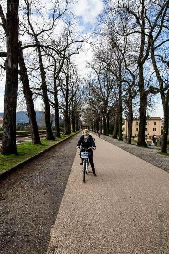 Promenade à vélo sur les 4200 mètres de remparts de Lucca