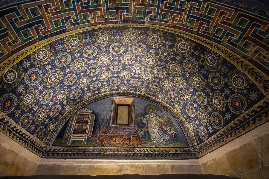 Mosaïque du mausolée de Galla Placidia - Martyre de Saint Laurent