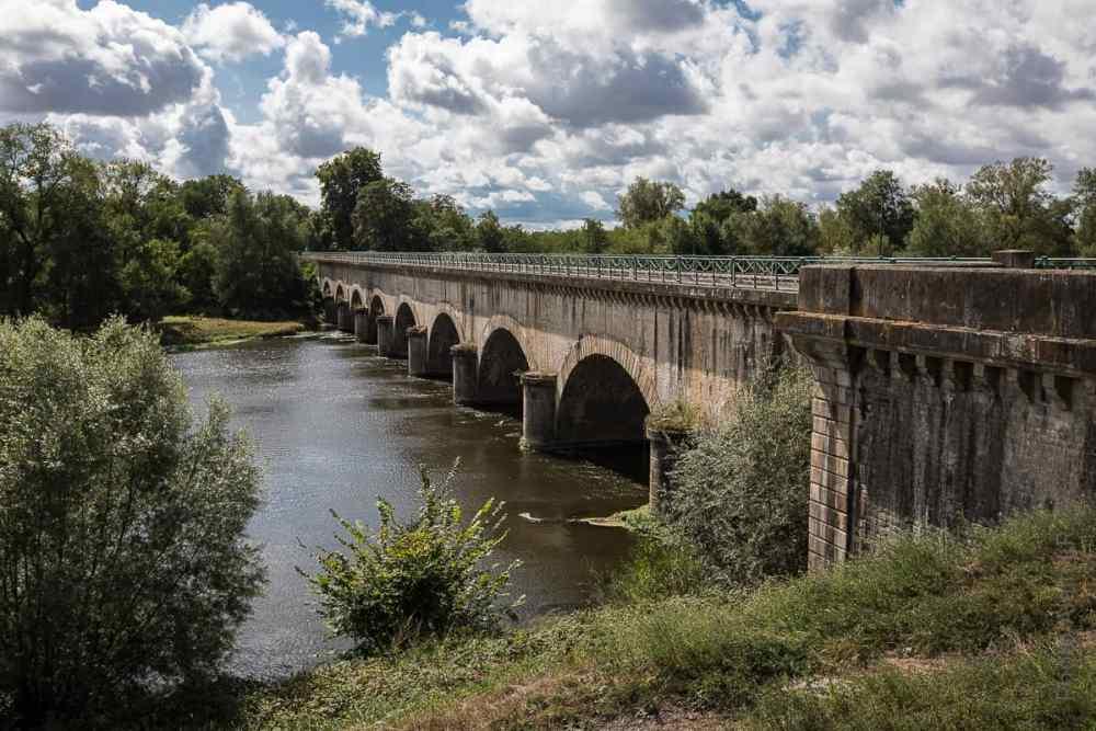 Face amont du pont-canal de Digoin