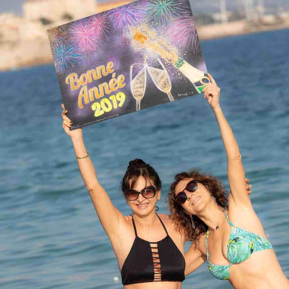 Le bain du jour de l'an 2019 à Antibes - 3