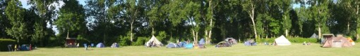 A panorama of most of the 26 tents we had!