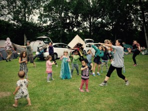 Little Apple dancealong was well attended by adults, kids and princesses © Paula Beetlestone