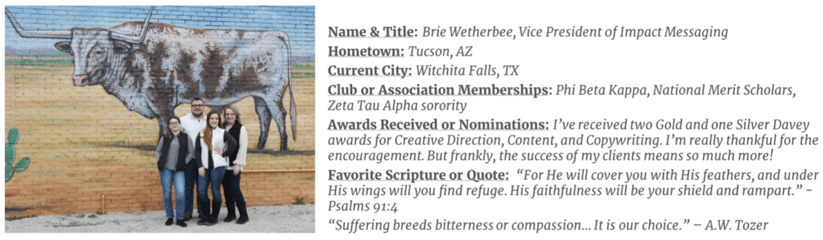 Brie Wetherbee_Meet Our Team, Dickerson Bakker & Associates