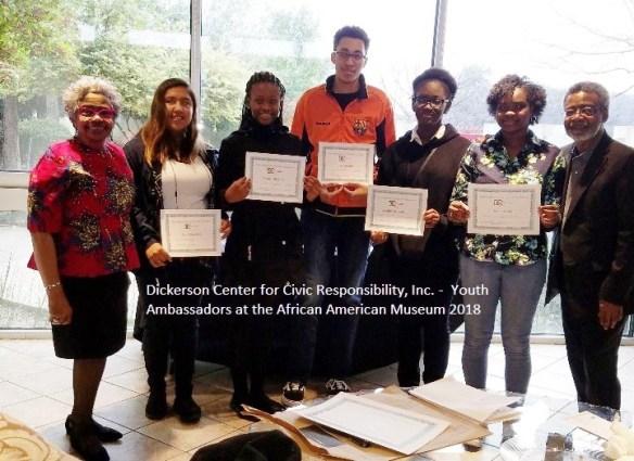 Dickerson Center Jefferson Monticello African American Museum Dallas Youth Ambassador Celebration