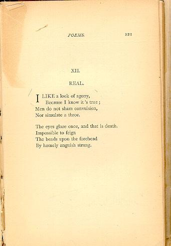 I Like A Look Of Agony : agony, Emily, Dickinson:, Fascicle