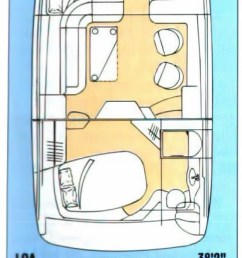 sea ray 370 aft cabin layout [ 769 x 2505 Pixel ]