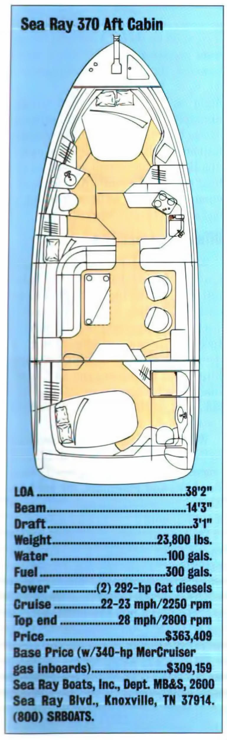 medium resolution of sea ray 370 aft cabin layout