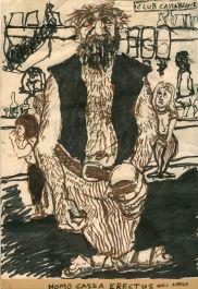 Homo Cassa Erectus cartoon