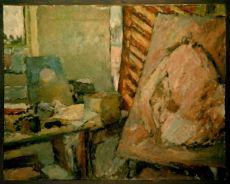 Interior with canvas 1986