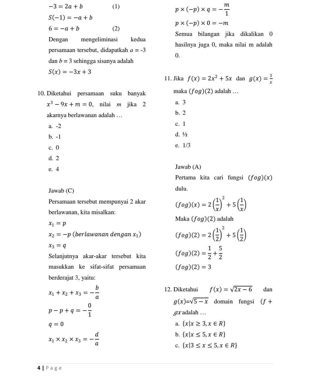 Soal Uas Matematika Kelas 5 Semester 1 Dan Kunci Jawabannya